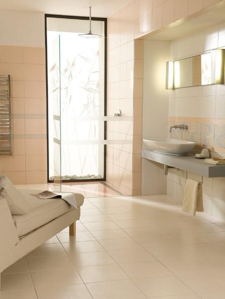 经过精心设计的瓷砖铺装方法可以更加强调房间外观的表现力.